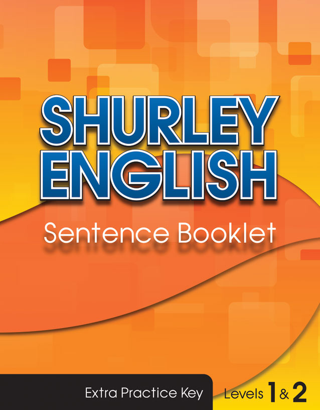 Sentence Booklet Key level 1