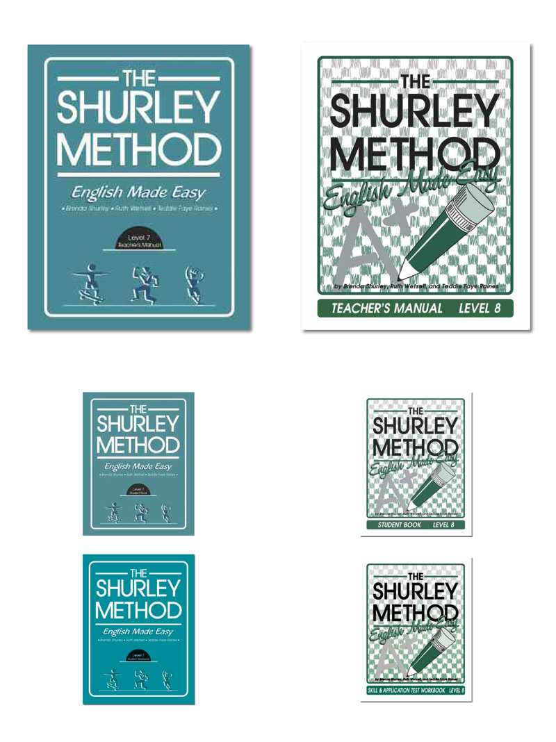 The Shurley Method for Home Use book covers